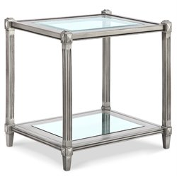 Magnussen Platinum End Table in Metallic Silver
