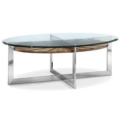 Magnussen Rialto Oval Coffee Table in Toffee