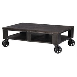 Magnussen Milford Coffee Table in Weathered Charcoal and Gunmetal