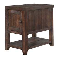 Magnussen Caitlyn Wood End Table in Distressed Natural