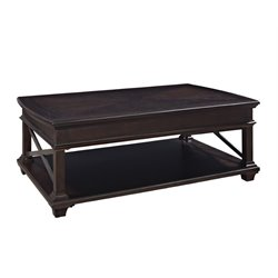 Magnussen Sorrento Wood Lift Top Coffee Table in Deep Walnut