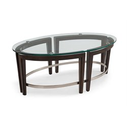 Magnussen Carmen Oval Coffee Table in Hazelnut