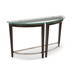 Magnussen Carmen Demilune Console Table in Hazelnut