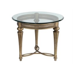 Magnussen Galloway Round End Table with Glass Top
