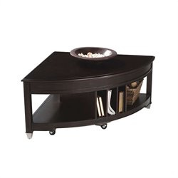 Magnussen Darien Pie Shaped Lift-top Cocktail Table in Burnt Umber