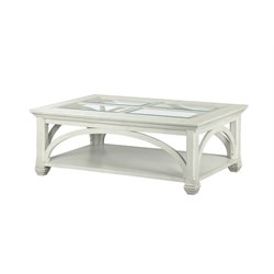 Magnussen Hancock Park Coffee Table with Casters in Vintage White