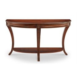 Magnussen Winslet Demilune Console Table in Cherry