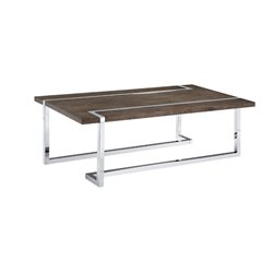Magnussen Kieran Coffee Table in Charcoal and Chrome