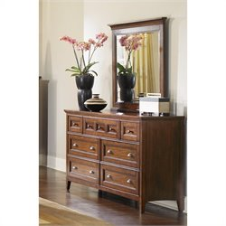 Magnussen Harrison Double Dresser and Mirror Set in Cherry