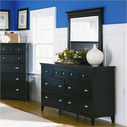Magnussen Southampton Double Dresser and Mirror Set