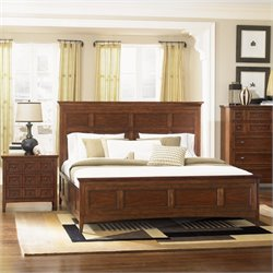 Magnussen Harrison Storage Panel Bed 2 Piece Bedroom Set in Cherry