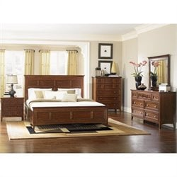 Magnussen Harrison Storage Panel Bedroom Set in Cherry