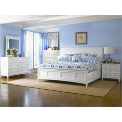 Magnussen Kentwood Storage Panel Bed 5 Piece Bedroom Set in White