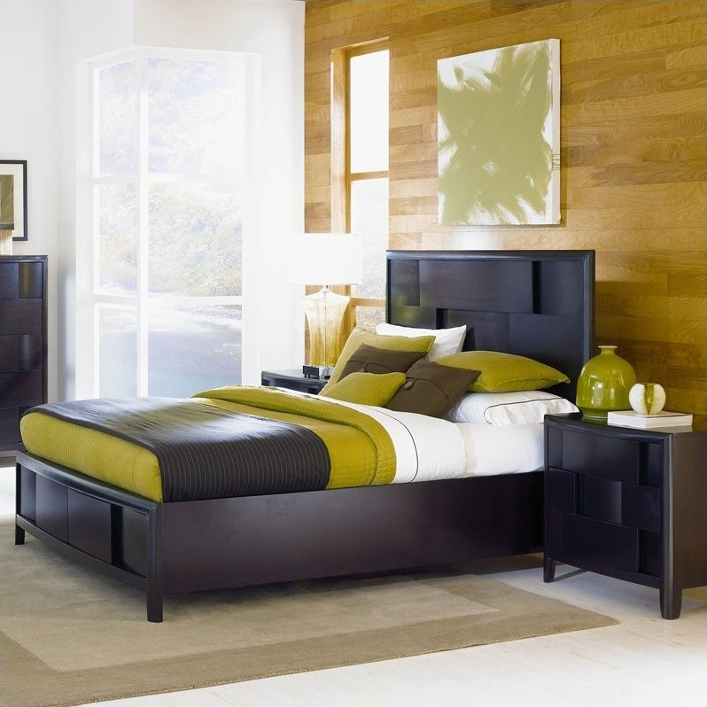 Magnussen Nova Platform Bed 2 Piece Bedroom Set in Espresso Finish