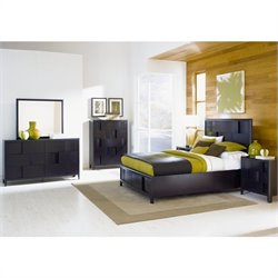 Magnussen Nova Platform Bed 3 Piece Bedroom Set in Espresso Finish