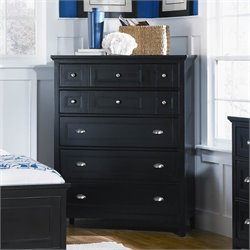 Magnussen Southampton 5 Drawer Chest in Black Finish