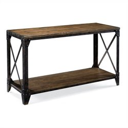 Magnussen Pinebrook Rectangular Sofa Table in Natural Pine