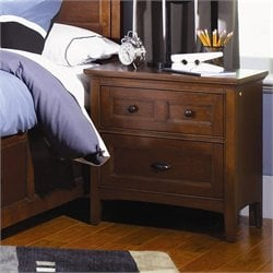 Magnussen Riley Wood 2 Drawer Nightstand in Cherry Finish