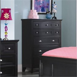 Magnussen Bennett 5 Drawer Chest  in Black Finish
