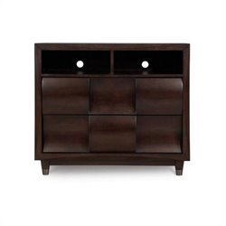 Magnussen Fuqua Wood Media Chest in Black Cherry