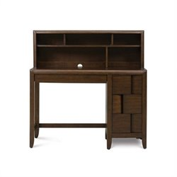 Magnussen Twilight Wood 3 Drawer Desk With Optional Hutch in Chestnut