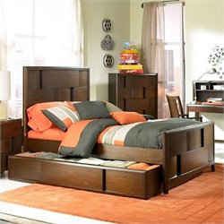 Magnussen Twilight Panel Bed With Optional Trundle in Chestnut