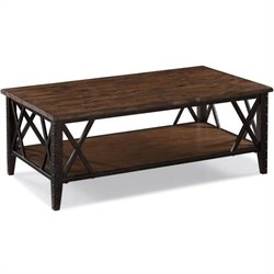 Magnussen Fleming Rectangular Cocktail Table in Rustic Pine
