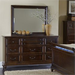 Magnussen Lafayette Wood 9 Drawer Dresser and Mirror Set