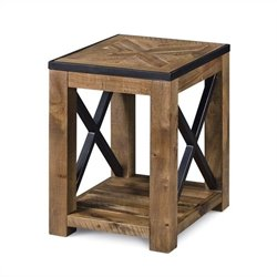 Magnussen Penderton Wood Chairside End Table in Sienna