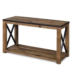 Magnussen Penderton Wood Rectangular Sofa Table in Sienna