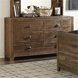 Magnussen Braxton Wood 6 Drawer Dresser in Natural