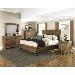 Magnussen River Ridge Casterbed Bedroom Set in Natural 2