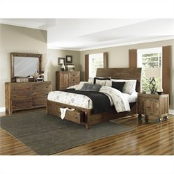 Magnussen River Ridge Storage Bedroom Set in Natural