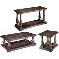 Magnussen Densbury 3 Piece Accent Table Set in Natural Pine