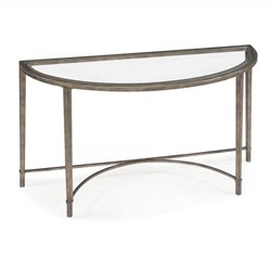 Magnussen Copia Demilune Sofa Table in Antique Silver