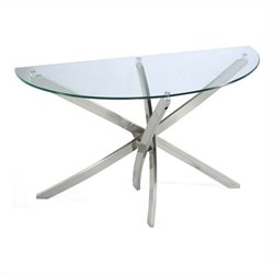 Magnussen Zila Sofa Table in Brushed Nickel