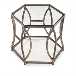 Magnussen Nevelson End Table in Antique Gold