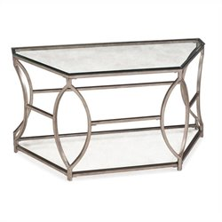 Magnussen Nevelson Demilune Sofa Table in Antique Gold