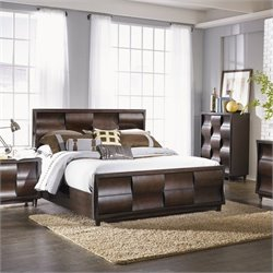 Magnussen Fuqua Panel Bed with Storage in Black Cherry