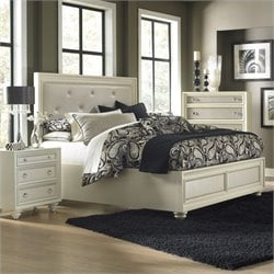 Magnussen DiamondIsland Bed in High Gloss White
