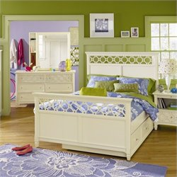 Magnussen Cameron Panel Bed in Off White