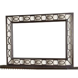 Magnussen Gramercy Mirror in Silver and Rich Sable