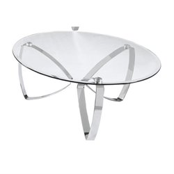Magnussen Nico Round Coffee Table in Chrome