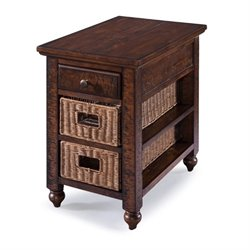 Magnussen Cottage Lane 1 Drawer End Table in Brown