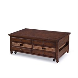Magnussen Cottage Lane 4 Drawer Lift Top Coffee Table in Brown