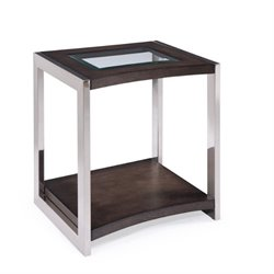 Magnussen Lynx End Table in Graphite