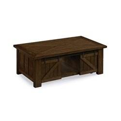 Magnussen Fraser Lift Top Coffee Table with Casters in Rustic Pine