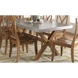 Liberty Furniture Keaton Trestle Dining Table in Honey