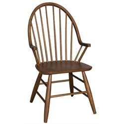 Liberty Furniture Farmhouse Windsor Back Dining Arm Chair in Oak