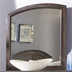 Liberty Furniture Avington Landscape Mirror in Dark Cognac